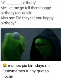 Some Beautiful Happy Birthday Memes For Me And Funny Quotes
